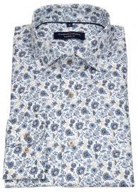 Casa Moda Hemd - Modern Fit - Print - hellblau / beige / weiß