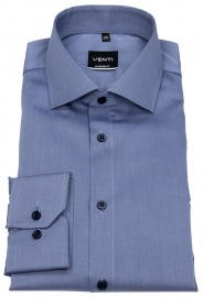 Hemd - Modern Fit - Twill - blau