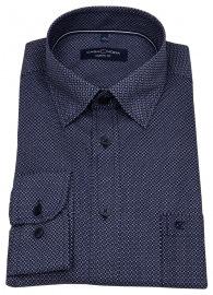 Hemd - Casual Fit - Under Button Down - dunkelblau / weiß