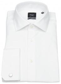 Hemd - Slim Fit - Umschlagmanschette - weiß