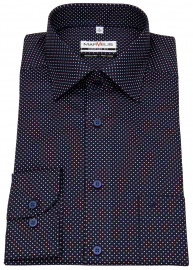 Marvelis Hemd - Comfort Fit - Print - dunkelblau / weiß / rot