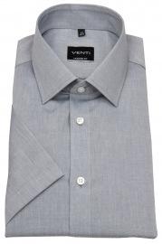 Kurzarmhemd - Modern Fit - grau