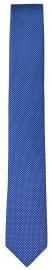 Seidenkrawatte - Super Slim - blau / weiß
