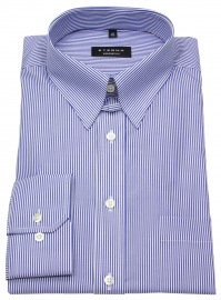 Hemd - Comfort Fit - Tabkragen - blau / weiß