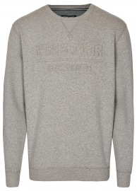 Pullover - Rundhals Ausschnitt - Print - grau