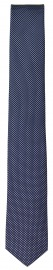 Seidenkrawatte - Super Slim - dunkelblau / weiß