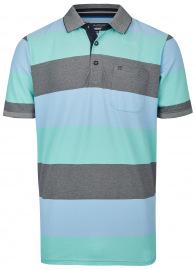 Poloshirt - Casual Fit - Streifen - grün
