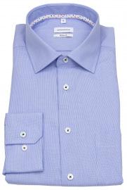 Seidensticker Hemd - Regular Fit - Kentkragen - Fil à Fil - blau