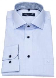 Casa Moda Hemd - Modern Fit - Patch - Kontrastknöpfe - hellblau