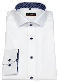 Hemd - Slim Fit - Oxford - Kontrastköpfe - weiß