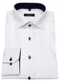Eterna Hemd - Comfort Fit - Oxford - Kontrastknöpfe - weiß