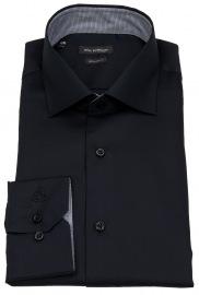 Hemd - Regular Fit - Haifischkragen - schwarz