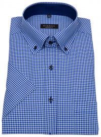 Eterna Kurzarmhemd - Comfort Fit - Button Down - kariert - blau