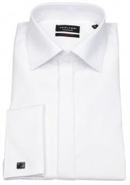 Festliches Hemd - Modern Fit - Kentkragen - weiß