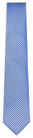 Seidenkrawatte - Slim - blau / hellgrau fein gestreift