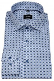 Hemd - Modern Fit - Under Button Down - blau / weiß