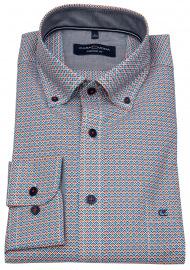 Hemd - Comfort Fit - Button Down Kragen - Print - mehrfarbig
