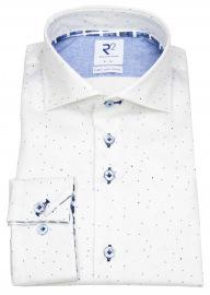 Hemd - Modern Fit - Haifischkragen - Punkte - weiß