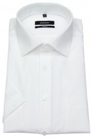 Kurzarmhemd - Comfort Fit - Kentkragen - weiß