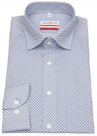 Hemd - Modern Fit - Under Button Down - blau - 69cm Arm