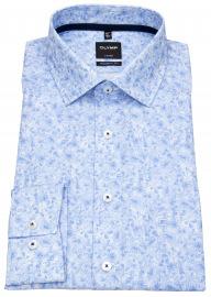 Hemd - Luxor Modern Fit - Print - blau / weiß