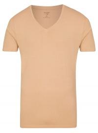 Level Five Body Fit - T-Shirt - V-Ausschnitt - caramel