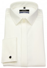 Galahemd - Shaped / Tailored Fit - Kentkragen - creme