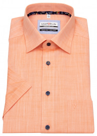 Kurzarmhemd - Comfort Fit - orange