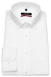 Hemd - Regular Fit - Button-Down Kragen - Fil-a-Fil - weiß