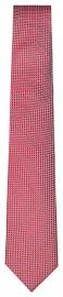 Seidenkrawatte - Slim - Struktur - rot / weiß