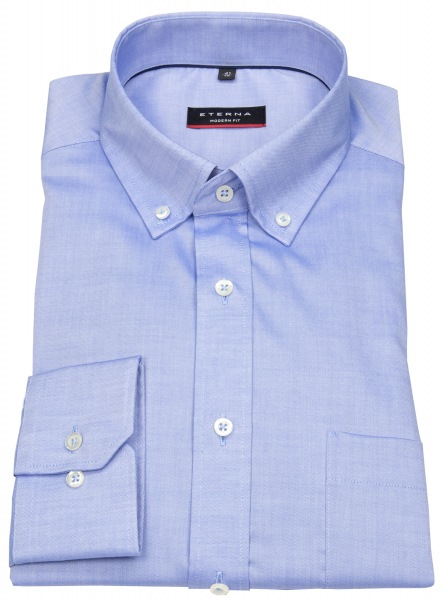 Eterna Hemd - Modern Fit - Oxford - Button Down - blau - 8100 X194 12
