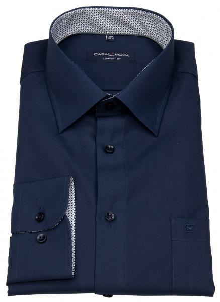 Casa Moda Hemd - Comfort Fit - Patch - dunkelblau - 303425700 116