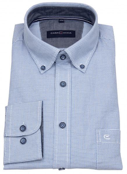 Casa Moda Hemd - Comfort Fit - Button Down Kragen - blau / weiß - 413633200 100