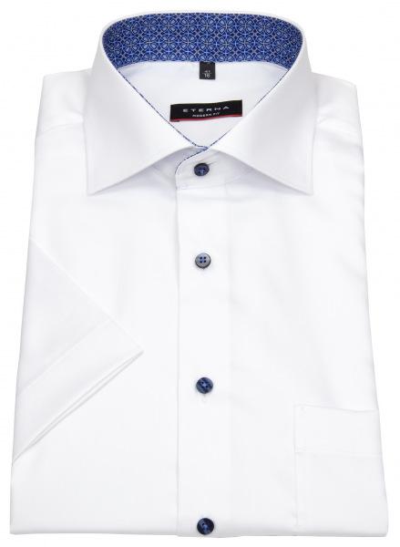 Eterna Kurzarmhemd - Modern Fit - Kontrastknöpfe - weiß - 3921 C15K 00