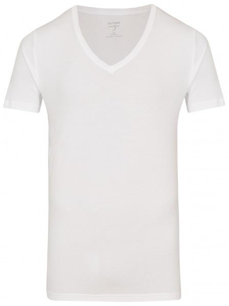 OLYMP Level Five Body Fit - T-Shirt - V-Ausschnitt - weiß - 0801 12 00