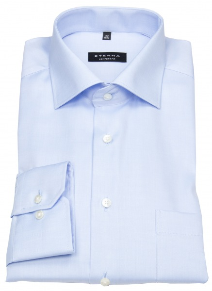 Eterna Hemd - Comfort Fit - Cover Shirt - extra blickdicht - hellblau - 8817 E19K 10