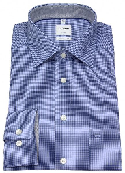 OLYMP Hemd - Luxor Comfort Fit - Check - blau / weiß - 3190 64 19