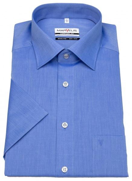 Marvelis Kurzarmhemd - Comfort Fit - Chambray - blau - 7959 12 13