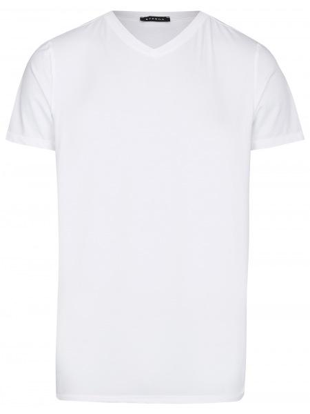 Eterna T-Shirt - V-Ausschnitt - weiß - 800 Al=AC 00