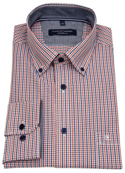 Casa Moda Hemd - Comfort Fit - Button Down Kragen - mehrfarbig kariert - 413633300 450
