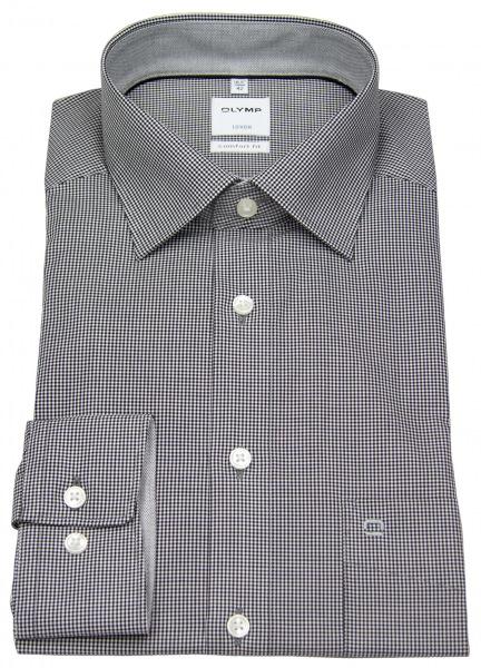 OLYMP Hemd - Luxor Comfort Fit - Check - schwarz / weiß - 3190 64 68