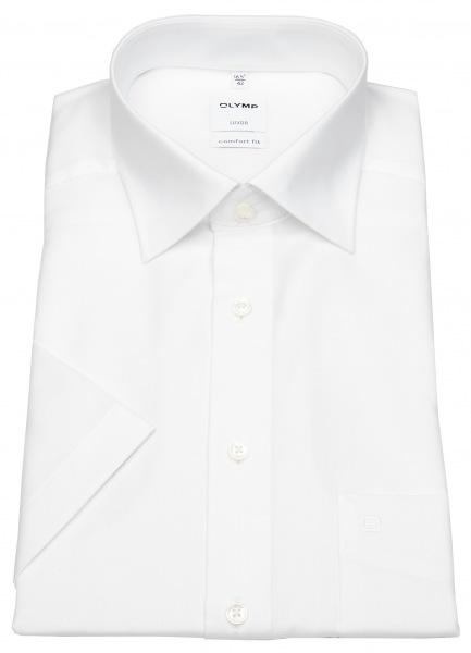OLYMP Kurzarmhemd - Luxor Comfort Fit - AirCon - weiß - 1108 12 00