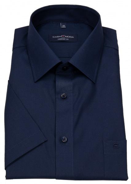 Casa Moda Kurzarmhemd - Comfort Fit - dunkelblau - 008070 116