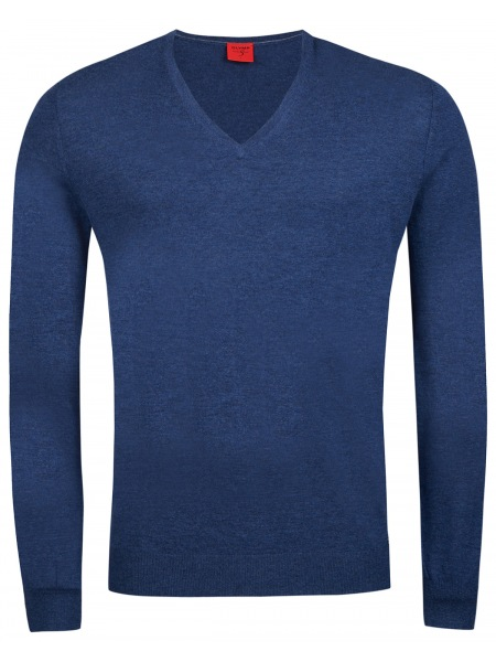 OLYMP Pullover - Level Five - Merinowolle - blau - 0151 10 19