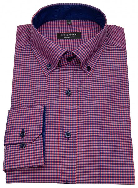Eterna Hemd - Comfort Fit - Button Down - rot / dunkelblau - 8917 E144 58